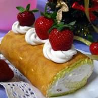 草莓味奶油卷