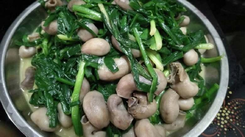 韭菜炒鱼肚