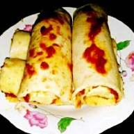 香蕉红枣泥薄饼+#挑战鸡蛋的100种做法#