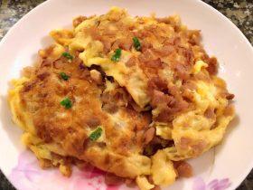 菜脯蛋(萝卜干煎蛋)#挑战鸡蛋的100种做法#
