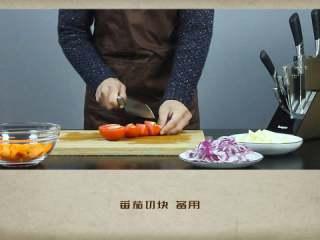 干贝罗宋汤,番茄切块