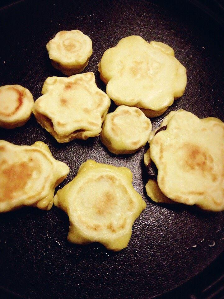 红豆小煎饼、肉末煎饼