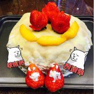 草莓芒果香梨千层蛋糕☺️
