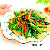 蒜苔炒猪耳朵(无味精版)