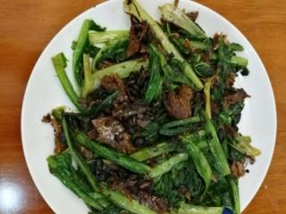 豆豉鲮鱼油麦菜,简单又好吃~