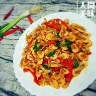 爆炒海白虾