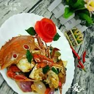 爆炒螃蟹#人民的美食#