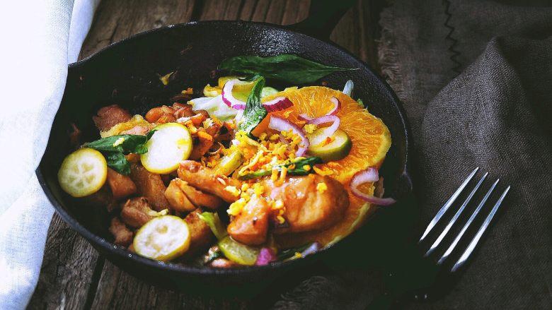 春日小清新之 香橙煎鸡肉