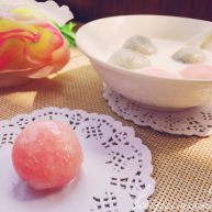 粉色少女的水晶汤圆