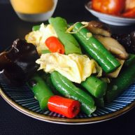 黑木耳鸡蛋炒刀豆