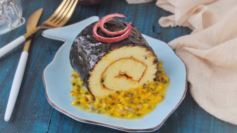 百香果蛋糕卷