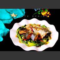 鮐魚小白菜#煙臺特色#