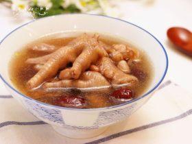 红枣花生凤爪汤