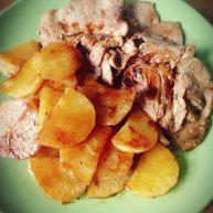 梅花肉煎土豆