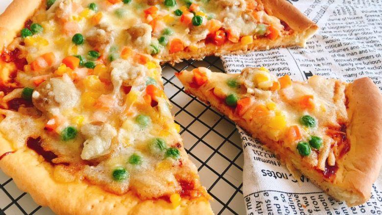 西班牙香肠披萨(快手版)