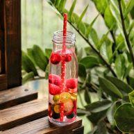 双莓玫瑰水果茶