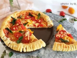 圣女果披萨,高颜值披萨,不仅好看,更好吃