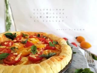 圣女果披萨,喜欢在午后,给自己准备一道爱吃的甜点