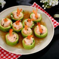 鲜虾酿西葫芦盅