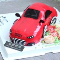 """汽车造型<span style=""""color:red"""">蛋糕</span>"""