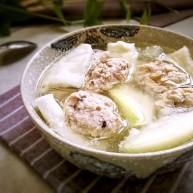 香菇肉滑蒲瓜湯