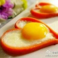 爱心鸡蛋早点。