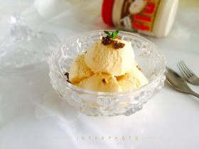可以媲美哈根达斯的焦糖味棉花糖冰淇淋