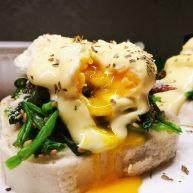 馒头版班尼迪克蛋brunch(附水波蛋做法)