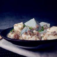 雙色豆腐煮肉蓉