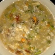 鲜蔬海鲜玉米疙瘩汤