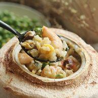 椰子海鲜芝士焗饭