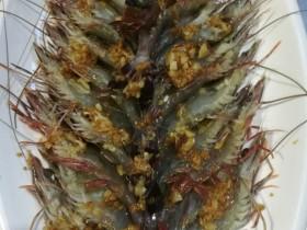 蒜蓉酱蒸大草虾