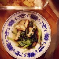 鸡毛菜炒香菇