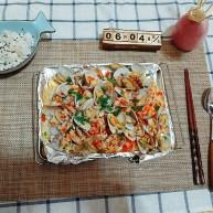 蒜蓉金针菇烤花蛤