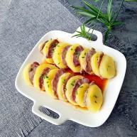 #食二星座#+土豆蒸腊肠