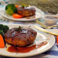 #食二星座#日式汉堡香酥肉饼(附红酒酱汁的做法)