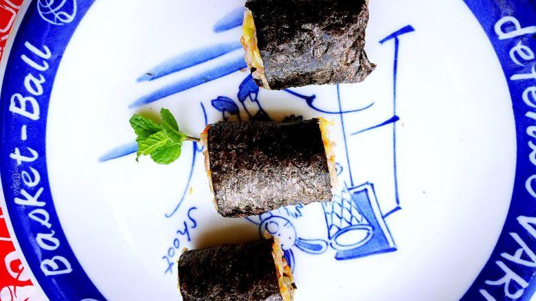 塑身益智三文鱼紫菜饭卷