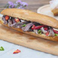 #食二星座#红酒汁牛排三明治