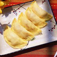 自制胡萝卜玉米牛肉蛋饺