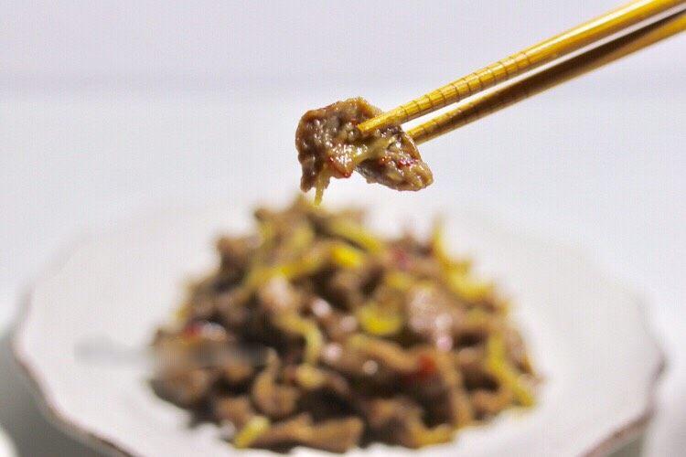 牛肉快手菜—姜丝牛肉
