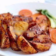 娃娃的健身餐日记 秘制烤土豆➕照烧鸡胸肉