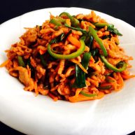 鱼香肉丝——番茄酱版