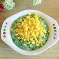 油菜鳕鱼蛋黄粥