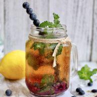 蓝莓Mojito鸡尾酒