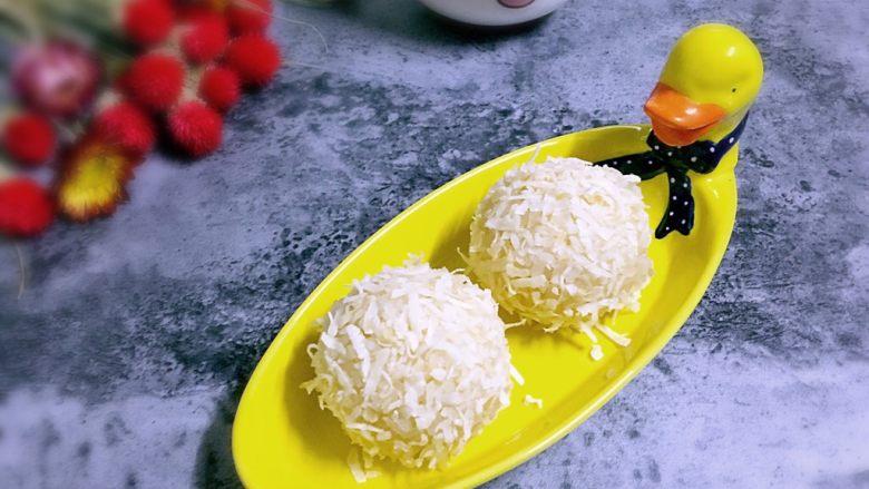 椰糖椰丝糯米饭团