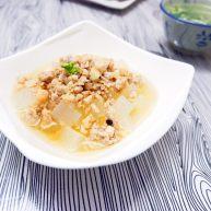 宝宝辅食之肉末蒸冬瓜+冰糖水蜜桃