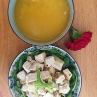 麻婆豆腐简易版+大米南瓜粥