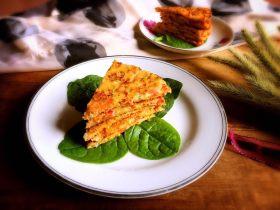 三文鱼时蔬蛋黄饼