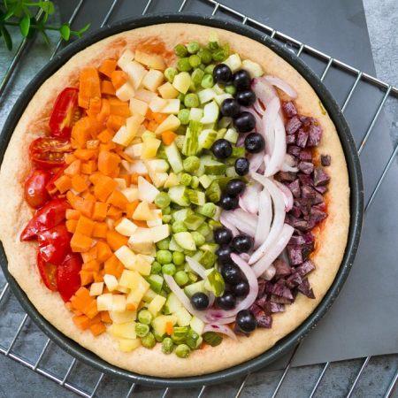 全麦彩虹披萨🌈(无糖无油,减脂增肌必备)