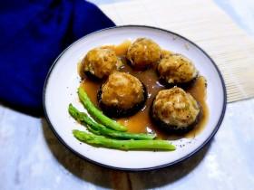 芦笋香菇鸡肉丸 (香菇鸡肉盏)